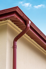 House roof and gutter