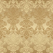 Floral seamless golden background