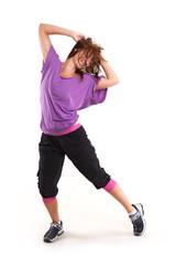 Mädchen hat Spaß beim tanzen