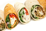 Various Wrap Sandwiches