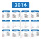 Fototapety Calendar 2014 blue