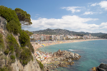 Lloret de mar beach in costa brava