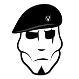 Vector illustration soldier in beret