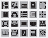Set of content and data organization icons