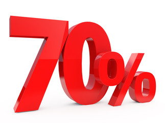 70 percent - 3d red Discount 70%