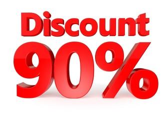 90 percent discount