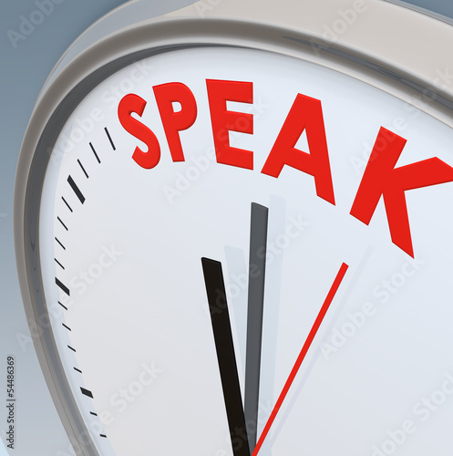 Speak time