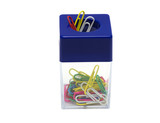 Paper clip box with a magnet