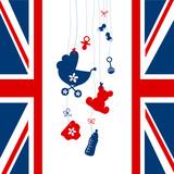 Card Royal Baby Hanging Symbols