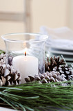 Pine cone centerpiece for christmas table decoration