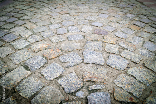 paving stones on the old road