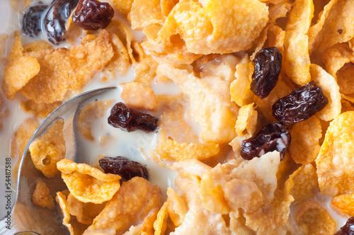 Cornflakes Breakfast Overhead