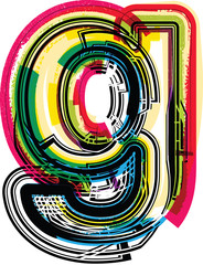 Colorful Grunge LETTER g