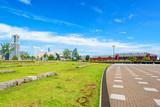 Scenic view of modern city in Yokohama, Kanagawa, Japan poster