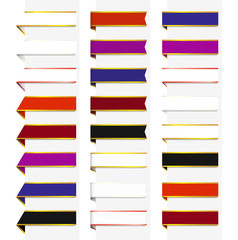Набор разноцветных лент-закладок