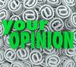 Your Opinion 3D At Email Symbol Background Feedback