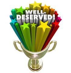 Winner Trophy Well-Deserved Honor Award