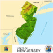 New Jersey USA counties name location map background