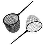vector fishing net black icon