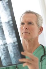 Surgeon Analyzing X-Ray Report