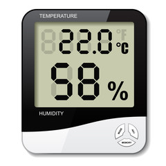 vector digital thermometer hygrometer humidity icon