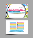vector business card set, design