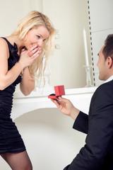 Joy of the wedding proposal