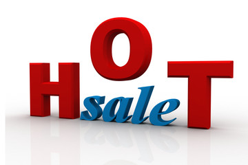 hot sale 3d isolated over white background