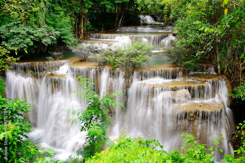 Waterfall in tropical forest in Thailand
