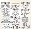 Collection of vector retro design calligraphic  elements and pag