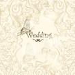 Cute wedding background for design
