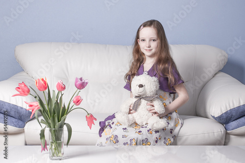Girl with a teddy-bear