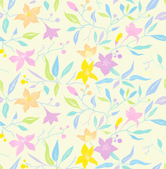 pattern; seamless; flower; pastel, light