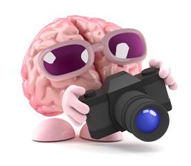 Brain takes a photo
