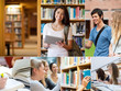 Collage of pictures with students