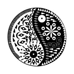 Yin Yang symbol Floral symbol