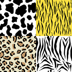 Set of animals seamless pattern
