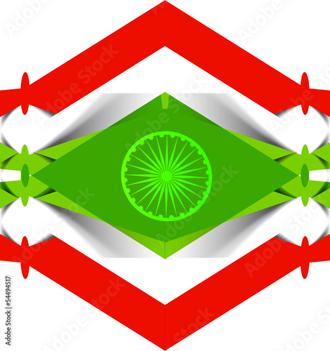 Stylish beautiful indian flag tricolor vector background