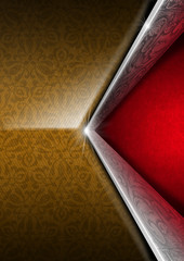 Red Brown and Silver Luxury Floral Background