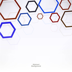 Background with hexagons
