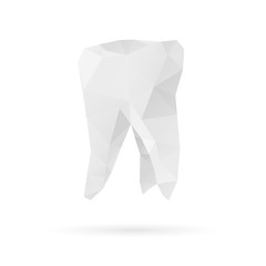 Tooth isolated on a white backgrounds