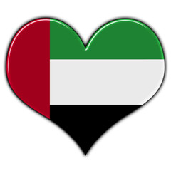 Heart with flag of United Arab Emirates