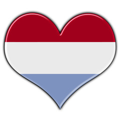 Heart with flag of Luxembourg