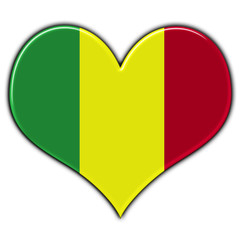 Heart with flag of Mali