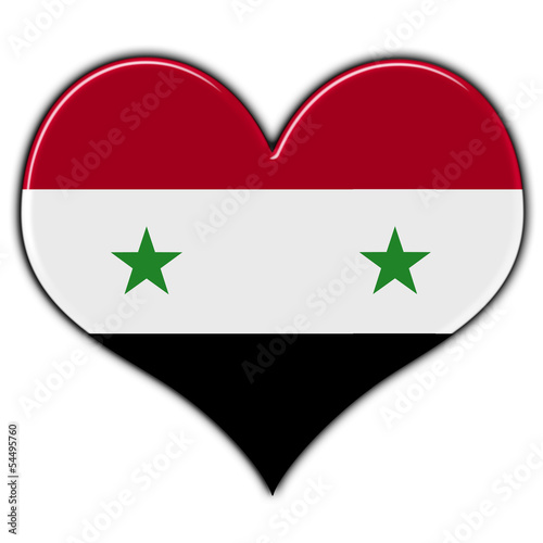 Heart with flag of Syria