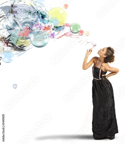 Creative fashion with soap ball