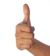 Thumbs Up Hand Gesturing`