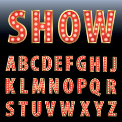 red show letters
