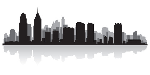 Philadelphia city skyline silhouette
