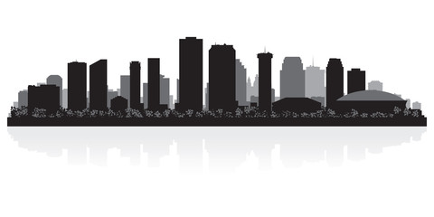 New Orleans city skyline silhouette